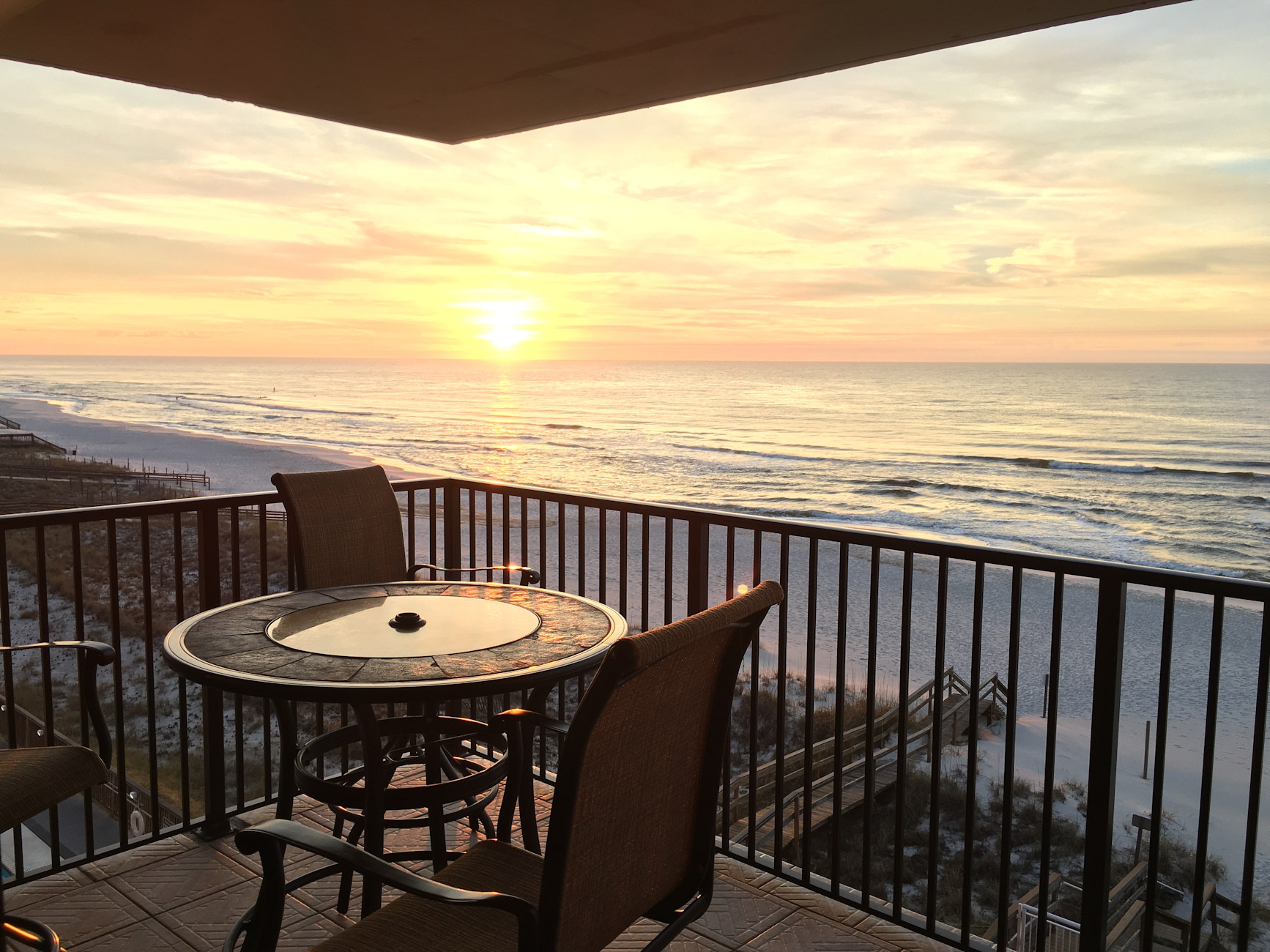 Sunrise on the Gulf Front Terrace!